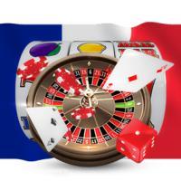 drapeau français jeux de casino cartes dés roulette jetons
